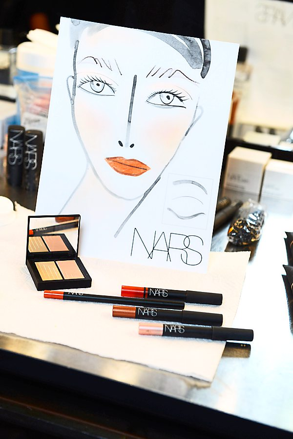 The Tanya Taylor woman is always crisp, fresh and bold. She loves a surprise and appreciates the unexpected, said NARS international lead makeup stylist.