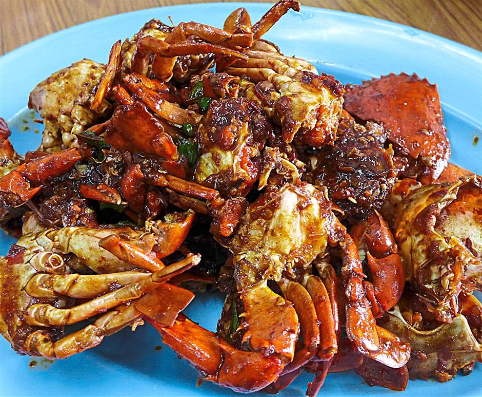 Perfectly seasoned:The crab was stir-fried with a kamhiong seasoning that did not overpower its natural sweetness.
