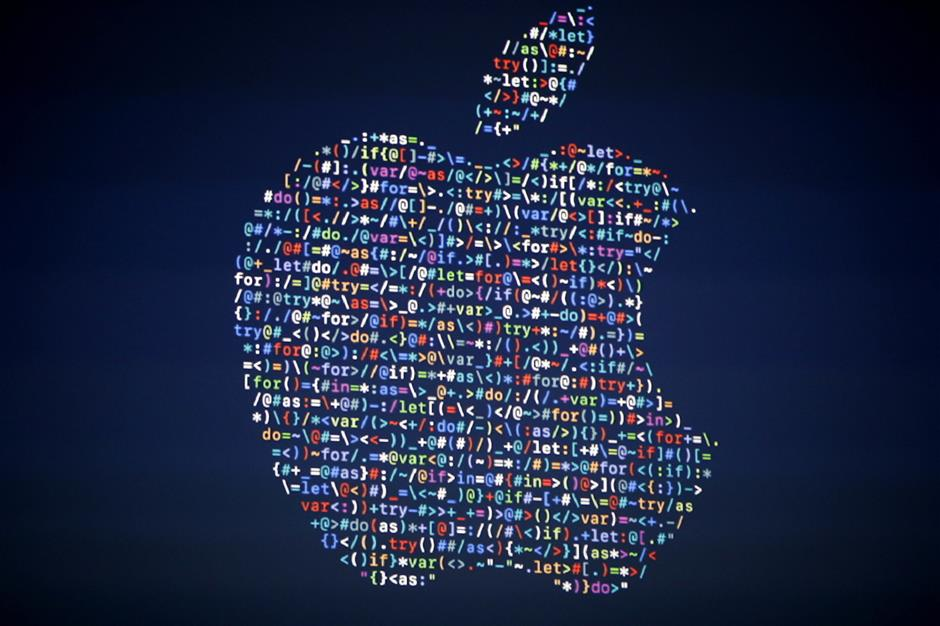 FILE - In this June 13, 2016 file photo, the Apple logo is shown on a screen at the Apple Worldwide Developers Conference in the Bill Graham Civic Auditorium, in San Francisco. Apple\'s latest move into streaming video illustrates an escalating trend: Tech\'s biggest companies, faced with limits to their growth, are encroaching on each other\'s turf. (AP Photo/Tony Avelar, File)