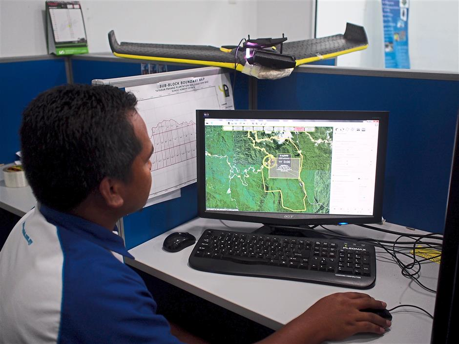 Prepping: Prior to taking off, the team simulates the flight path of the UAV to know if the coverage areas are sufficient to collect data, which would then be analysed to create a meaningful report for clients.