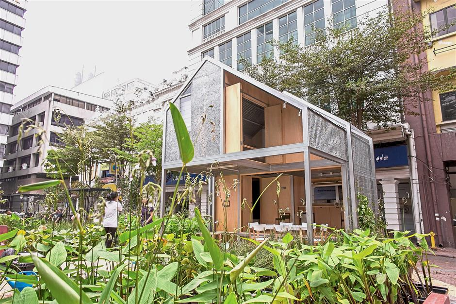 The elevated micro housing unit has been drawing the crowd in the Medan Pasar area.