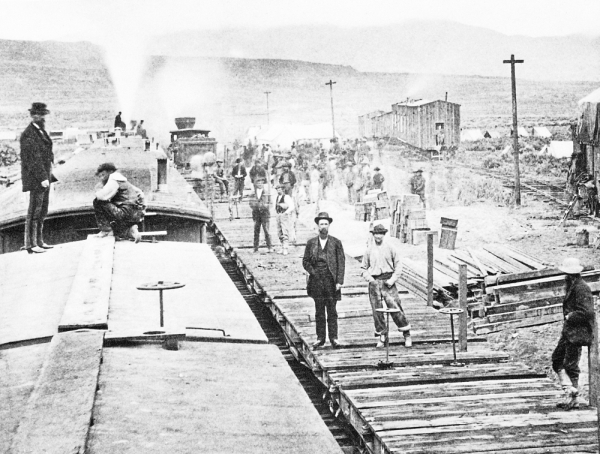 Unsung heroes: The First Transcontinental Railroad changed America forever, but thousands of Chinese men who had toiled on the tracks were erased from history. – AP