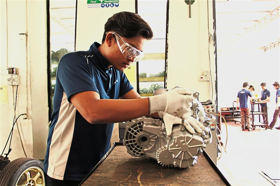 Building skills: The company built a vocational training institute to help with manpower issues in the industry.