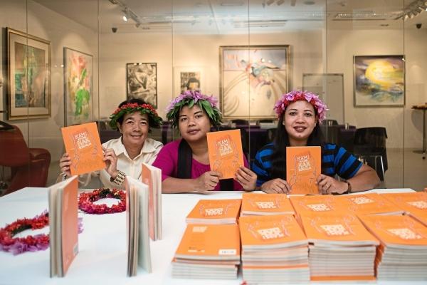 Pushing for better orang asli education: Nora (third from left) and friends at the launch of 'Kami Pun Ada Hak Bersekolah: Wanita Orang Asli Bersuara'.