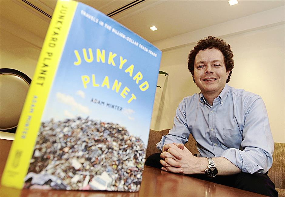 With his background, Adam Minter certainly knows what he's talking about in his new book, Junkyard Planet, on the global billion-dollar trade in trash.