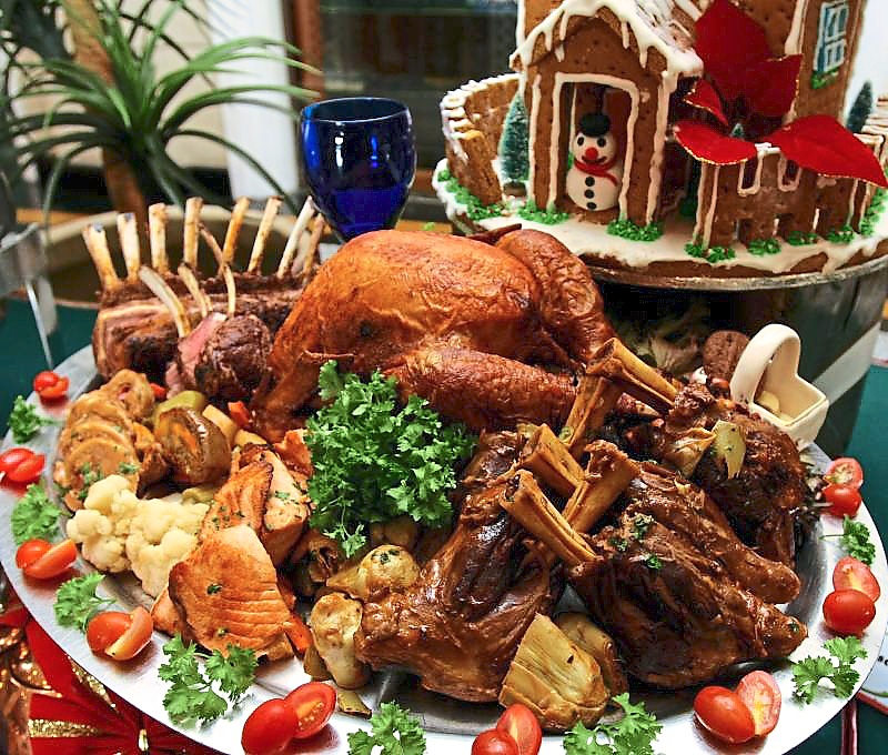 5. Christmas meals - Eating the turkey as a staple Christmas dish was only made popular in 16th century England, but celebrations around the world typically serve dishes that reflect the culture of the country it is celebrated in.Top 10 story: 10 Christmas traditions origins. Filepix.