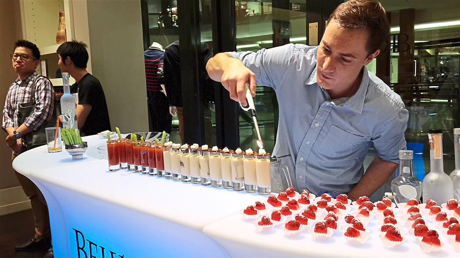 Ready to go: Ivanovic says Cocktail Solutions runs full events with just six ready-made, bottled concoctions. It makes serving much easier.