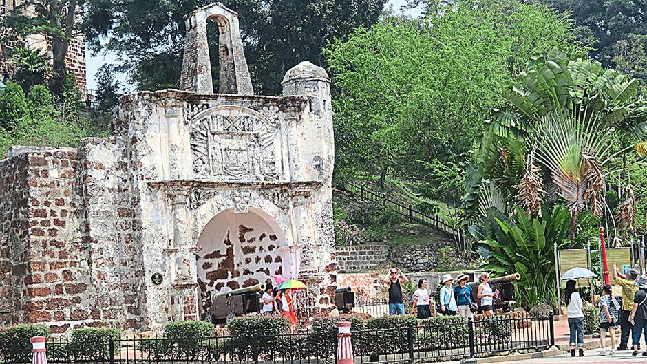 The Santiago gateway, Malacca¿s most famous landmark.