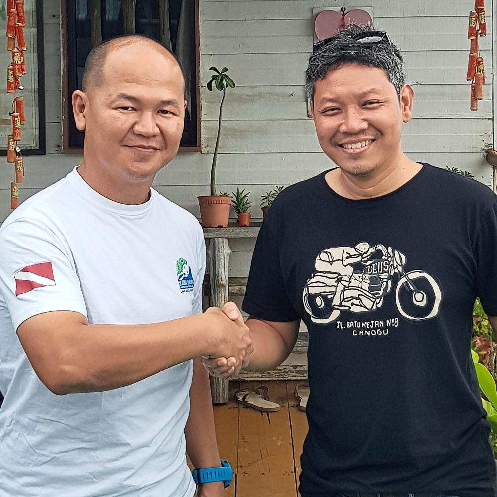 Ag Ahmad Zaki (left) and Dr Azman are confident of the potential of Pulau Bum Bum.