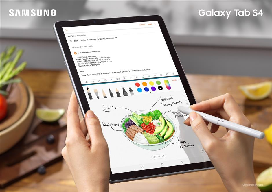 Samsung Galaxy Tab S4: Smooth operator   The Star Online