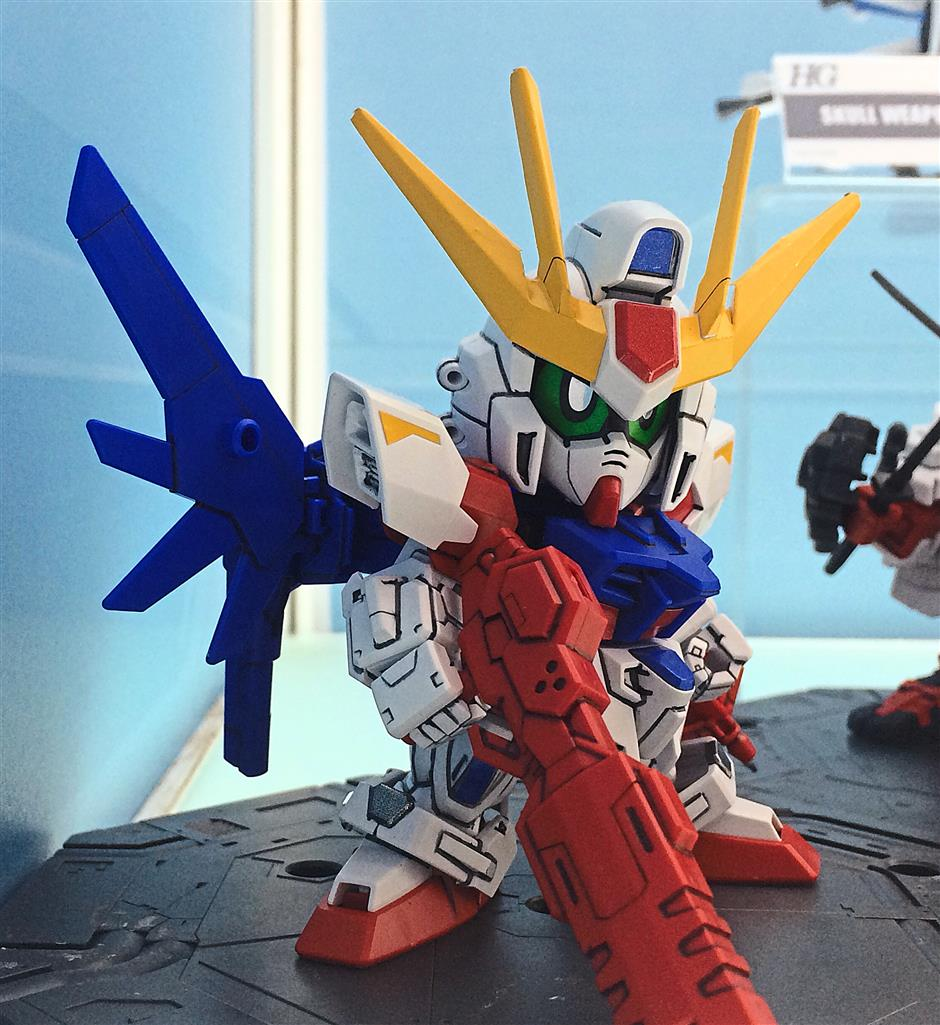PLS ETCH OUT AND PUT IN CORNER OF PAGECute but deadly: The Gunpla Expo Malaysia 2014 will feature a variety of Gundam model kits, including this cute one from the SD (Super Deformed) Gundam line.