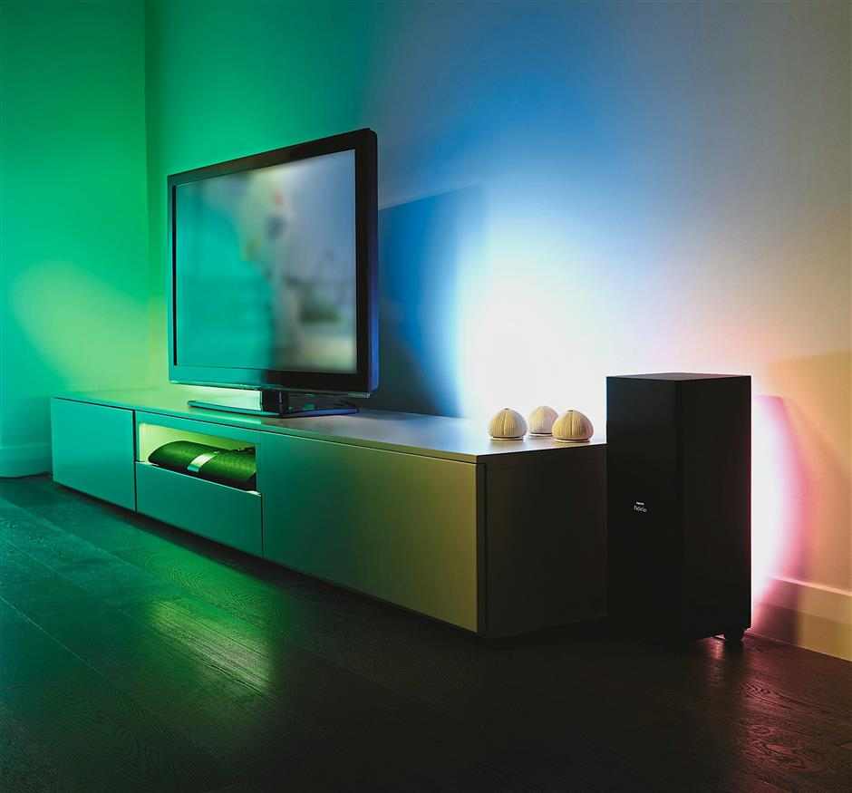 There are plenty of third-party apps that can sync the lights to the rhythm of the music you are listening to.