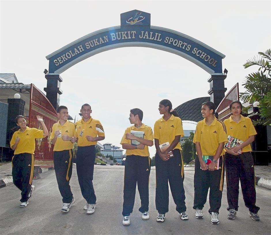 Filepic of Sekolah Sukan Bukit Jalil at the National Sports Complex, the first SSM established in 1996. The administration and management of SSM mirrors fully residential schools.