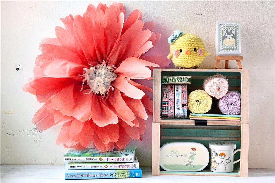 Add joy to any space with giant paper posies.