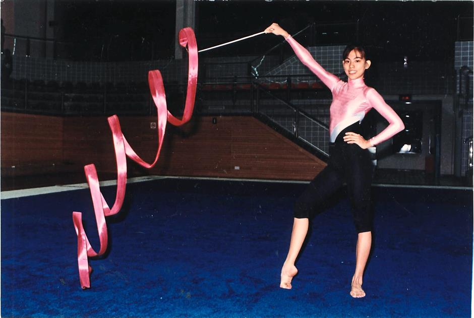 Young pioneer: Faiznur demonstrating her gold-winning technique during a rehearsal in this file picture.
