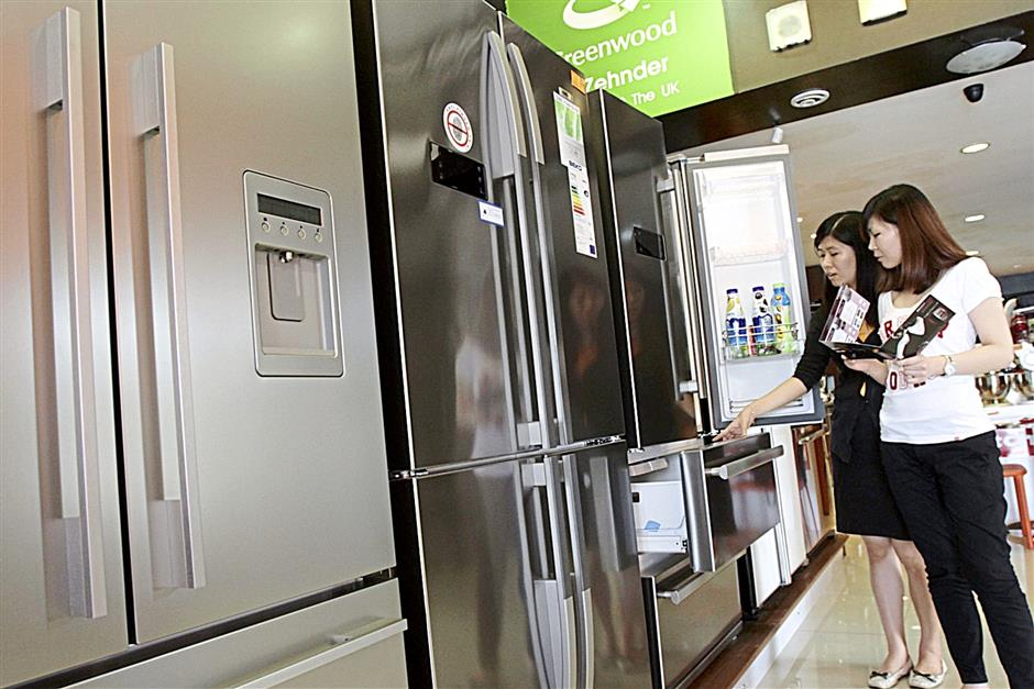 Refrigerators were among the popular product categories at Ban Hin Bee