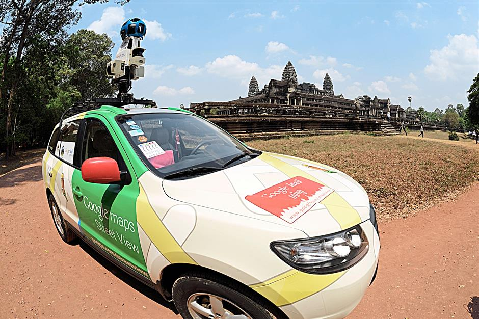 Amblin: Google Street View vehicles capture 360-degree views of Angkor Wat where access by road is available