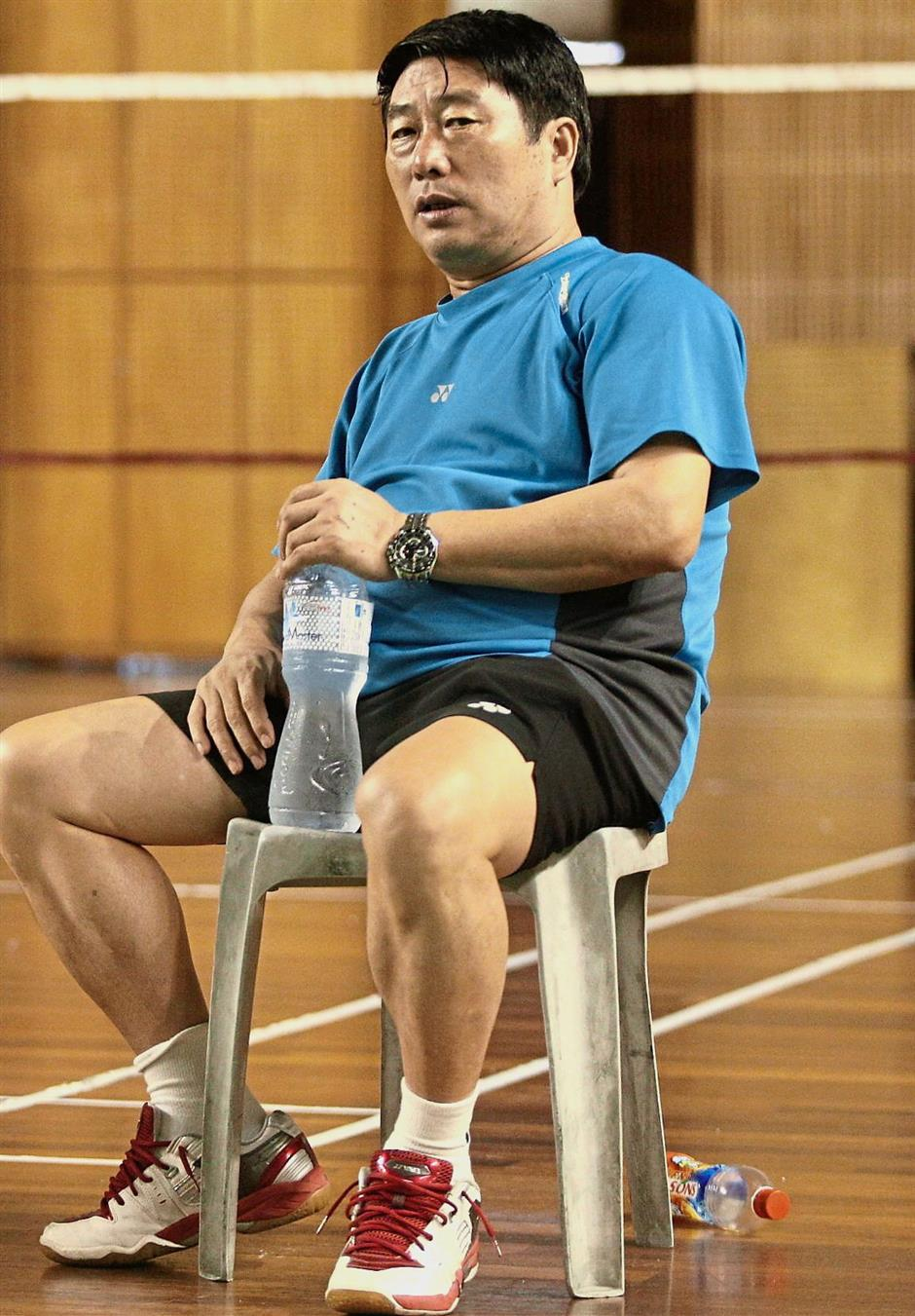 It's time to go: Zhou Kejian tendered his resignation as badminton singles coach yesterday.