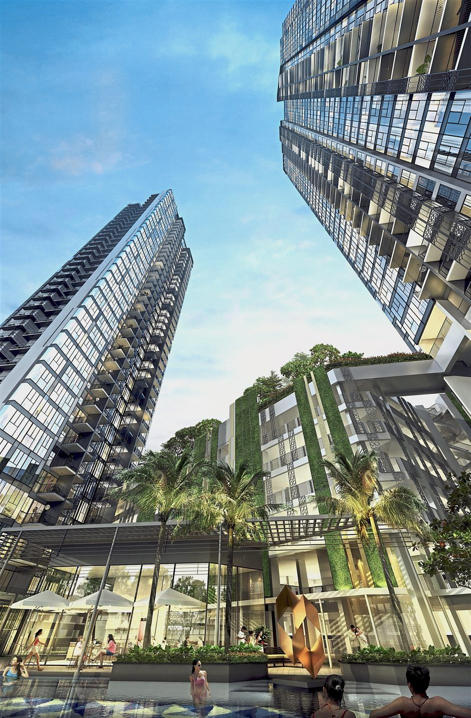 High-rise beauty: Artist impression of the facade of Gem Residences.