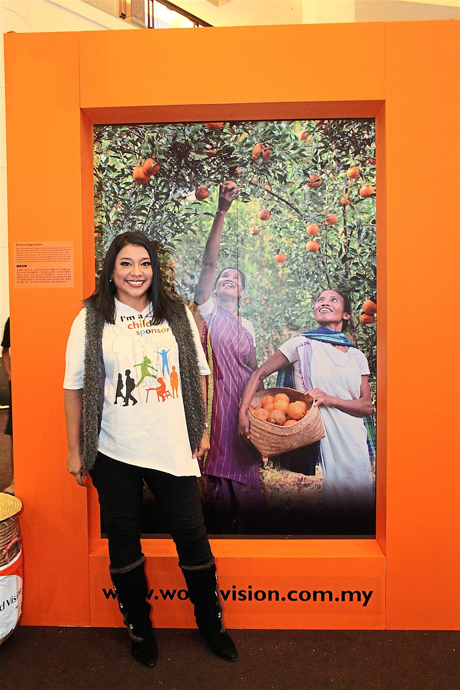 There is always hope: Francissca Peter is one of World Vision Malaysia's ambassadors.