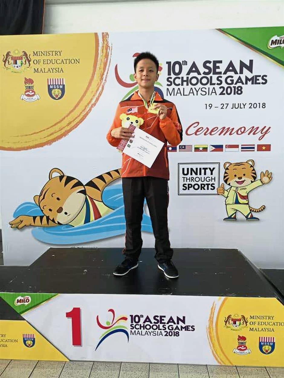 National record breaking swimmer Sebastian Soon