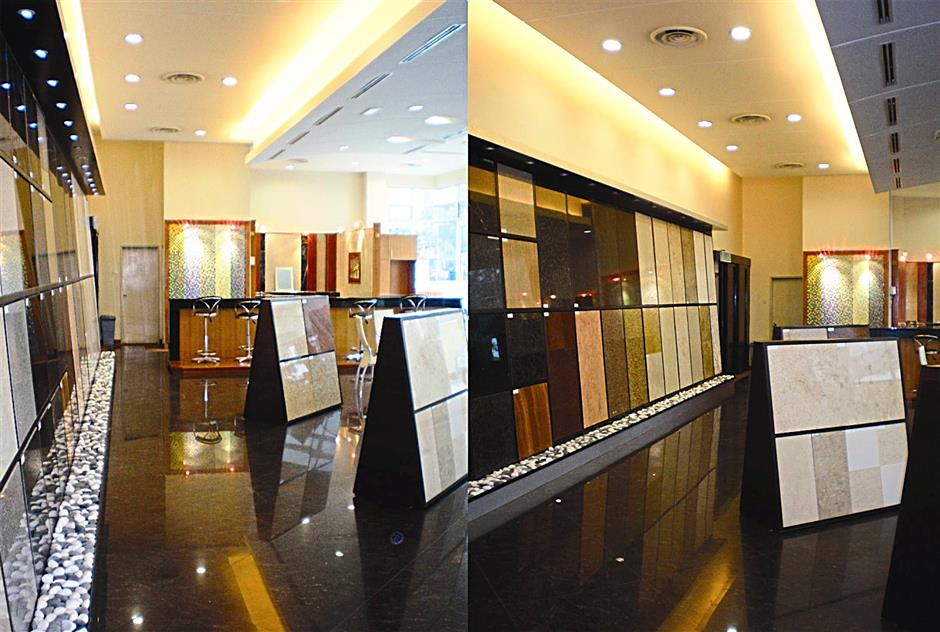 A file image of NCT's tile showroom. The company first established itself in construction and tiling before diversifying in property development.