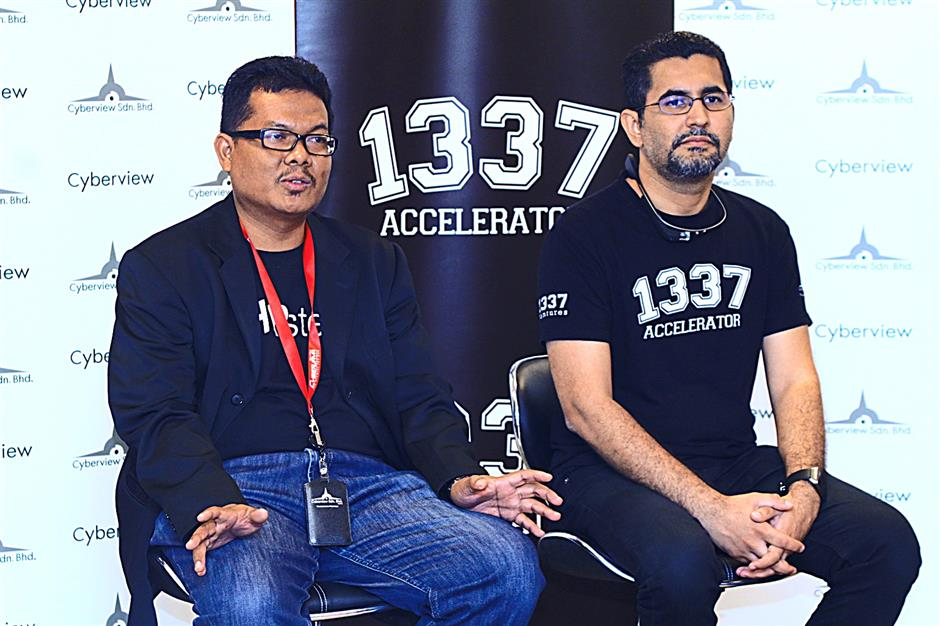 Bikesh Lakhmichand, chief executive of iTrain (M) Sdn Bhd, a regional IT training company, which resulted in the birth of 1337 Accelerator and technology hub development division head, Nazri Tumin