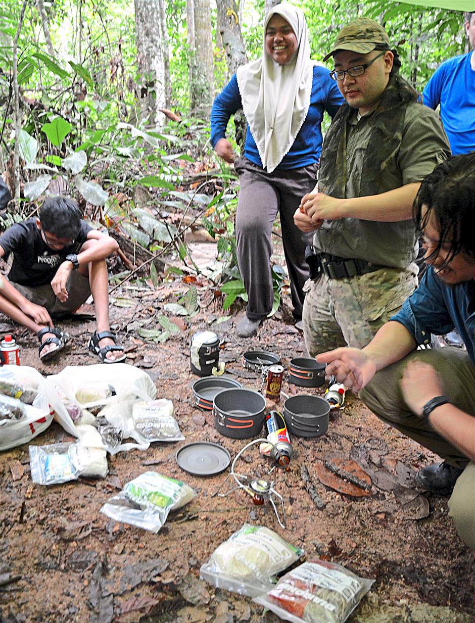 Different sets of meals, are all neatly packed in ziplock bags at the Hutlista forest of Selangor.