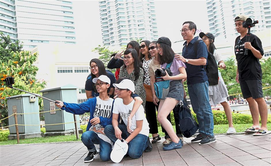 A family from Vietnam planned their trip to coincide with Chinese New Year.