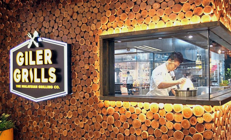The grill house's young and trendy name emphasises its Malaysian element.
