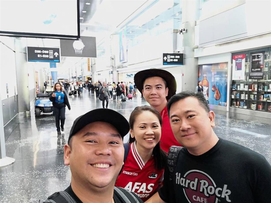 Victor Tan and friends left the United States with bags full of memories and souvenirs for family and friends.