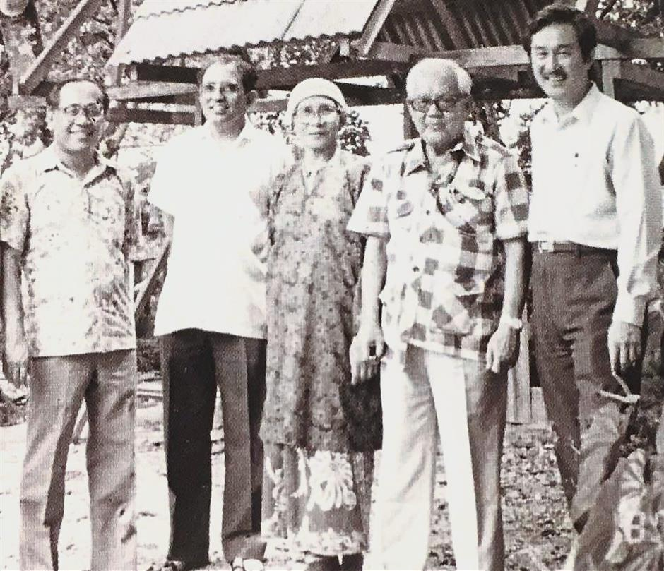 Unsung heroes: Dr Syed (left) in the early 1990s with veteran leaders of the Socialist Front Dr Rajakumar, Pak Sako's wife, Pak Sako and Tan Kai Hee who not only fought against the colonial power but also struggled to improve the socio-economic situation of the people. — Photos courtesy of DR SYED HUSIN ALI