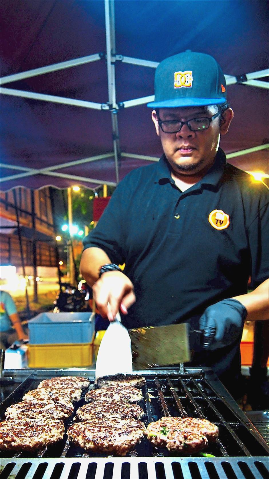Ehsan says apart from the custom-ordered buns, all other ingredients that go into the burgers are homemade.