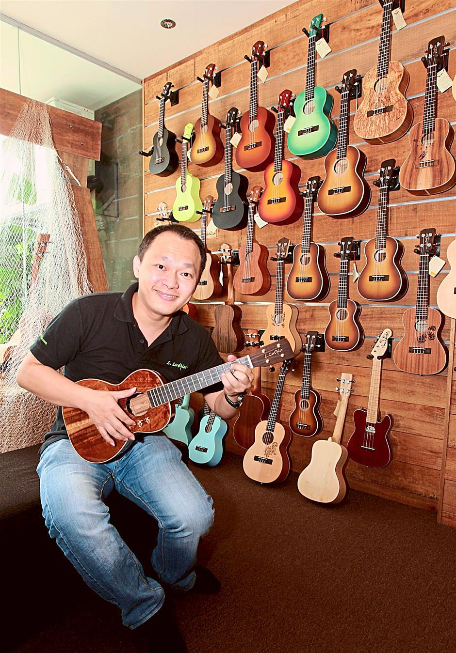 Lai brings in 2,000 units of L. Luthier ukuleles every two months.