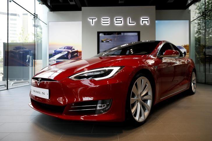 A Tesla Model S electric car is seen at its dealership in Seoul, South Korea July 6, 2017. REUTERS/Kim Hong-Ji/Files
