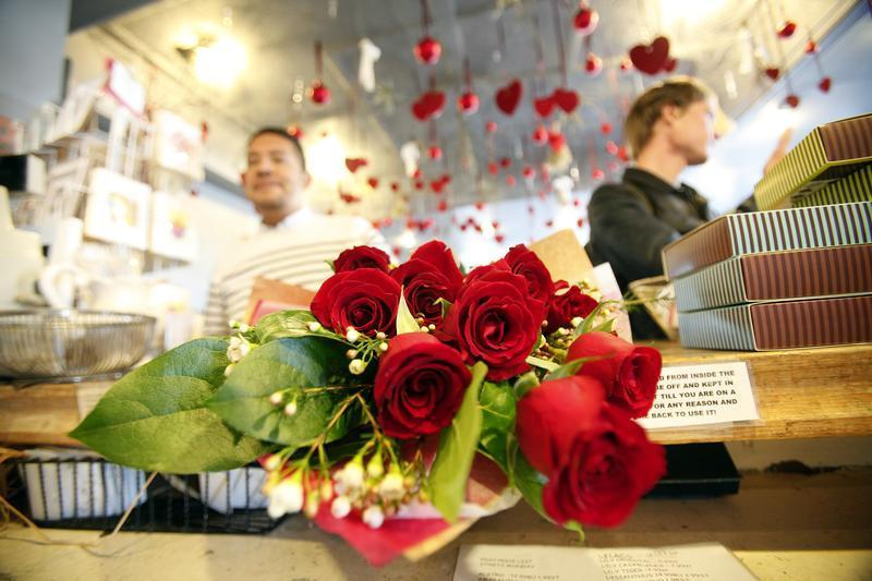 ROSES ARE RED: Several other apps aim to modernise and simplify the act of giving flowers on Feb 14. — Reuters