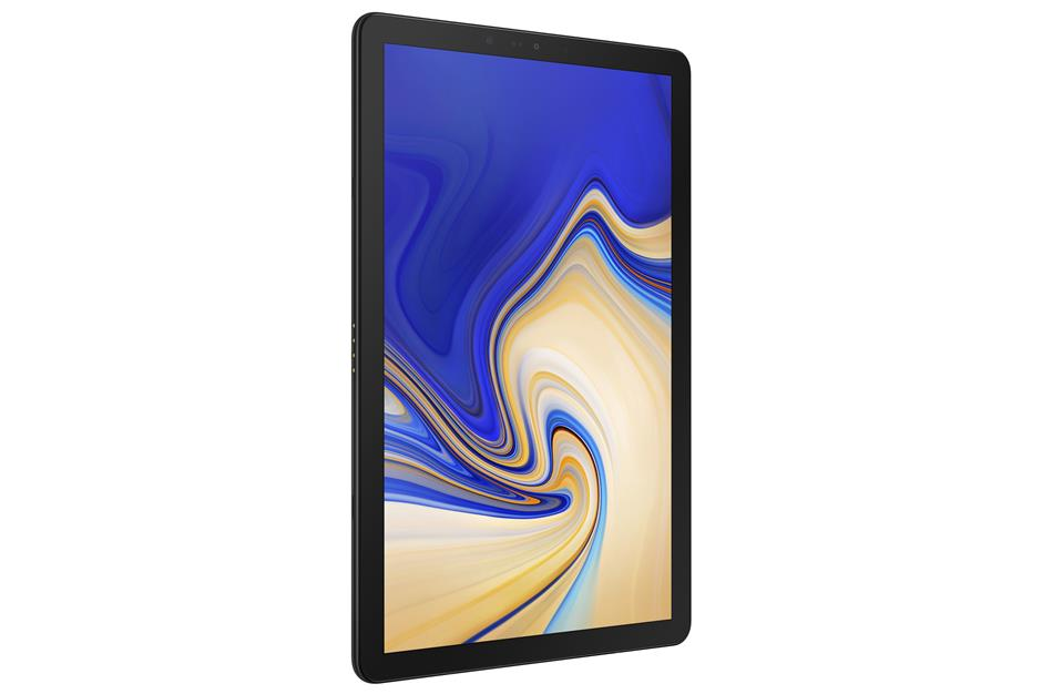 The sleek new Samsung Galaxy Tab S4 can be unlocked with facial and retina scanning.