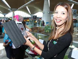 The butterfliesu2019 effect: The iButterfly app reflects Malaysia Airportsu2019 creative approach to promoting airports as lifestyle destinations, says senior GM of Commercial Services, Faizah Khairuddin.