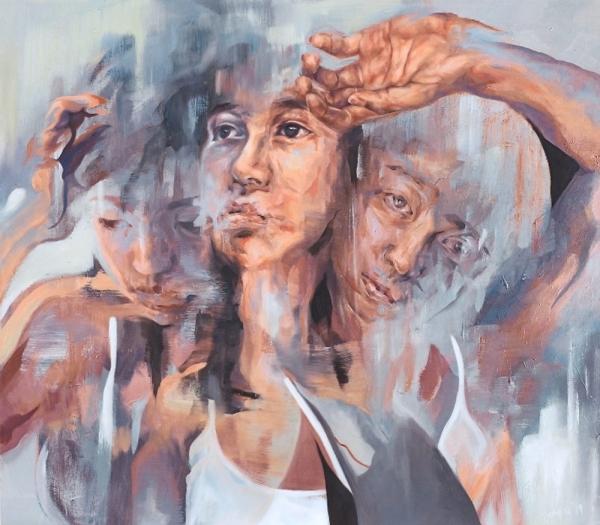 'Metamorphosis' by Joy Ng (oil on canvas)