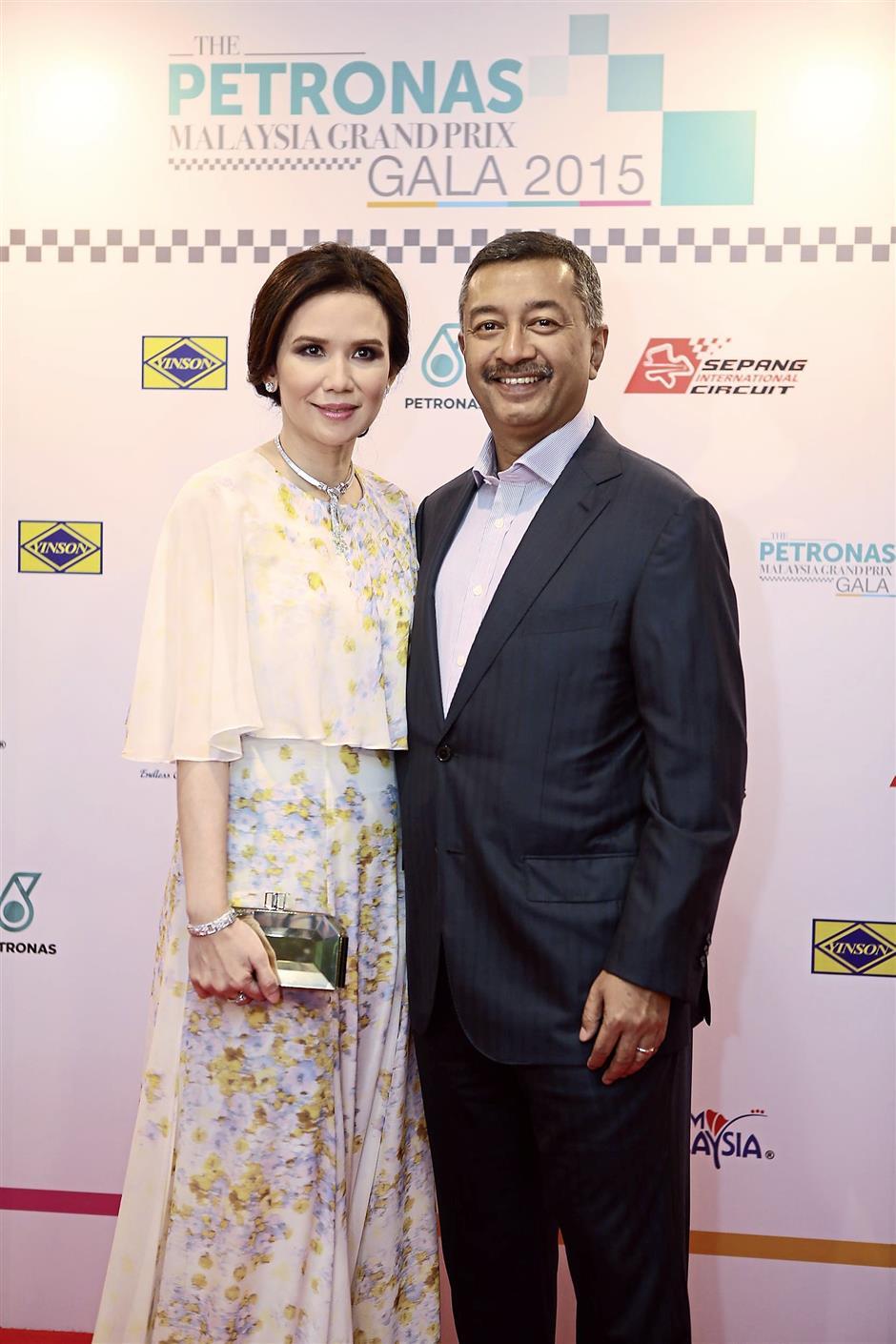 Elegant night out: Mokhzani with his wife Puan Sri Mastisa Mohamed