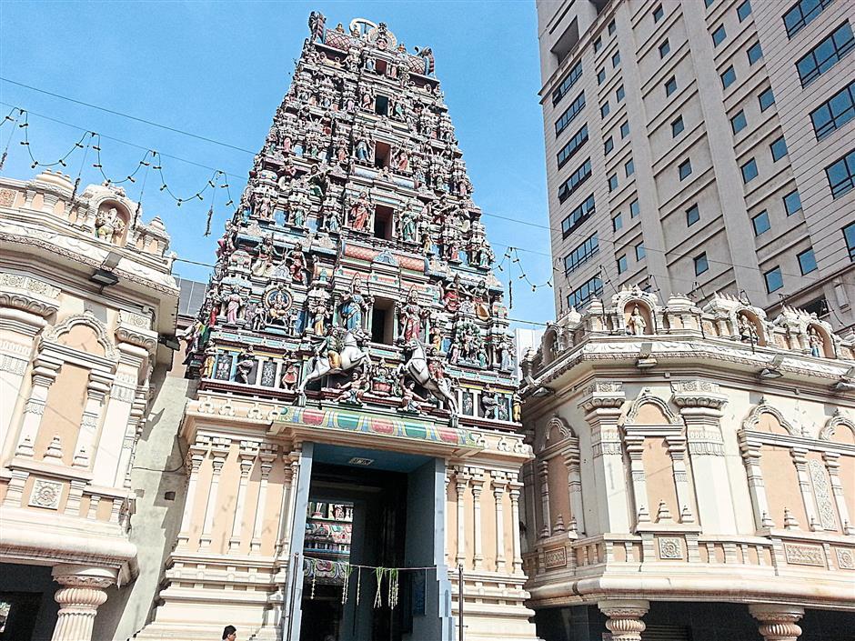 The beautiful Sri Maha Mariamman Temple along Jalan Tun H.S. Lee was built in 1873.