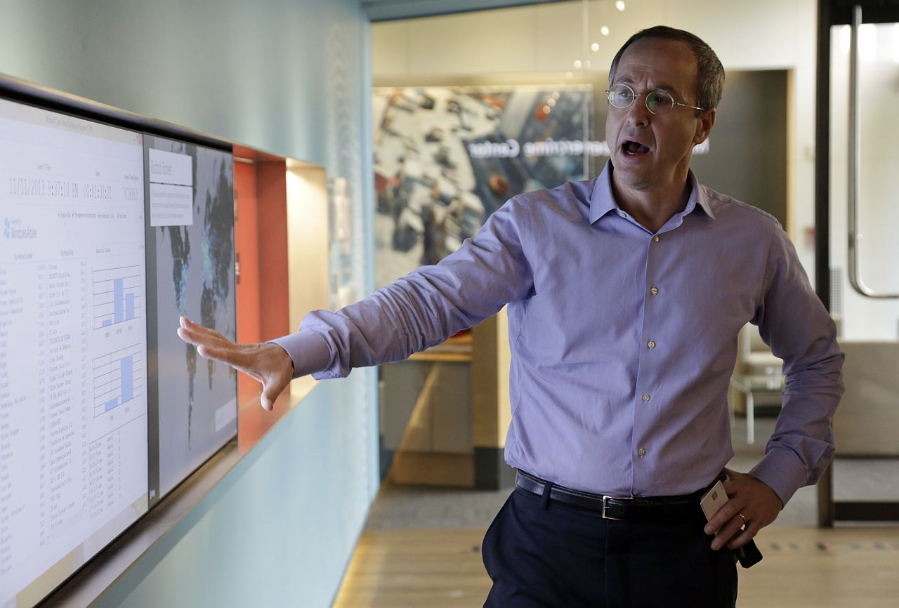 EXCLUSIVE LOOK: Finn giving a tour of the unit's new headquarters at the Microsoft Cybercrime Center. — Reuters
