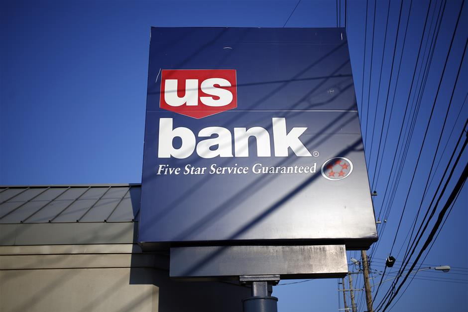 Signage is displayed at a US Bancorp branch in Louisville, Kentucky, U.S., on Thursday, July 12, 2018. US Bancorp is scheduled to release earnings figures on July 18. Photographer: Luke Sharrett/Bloomberg