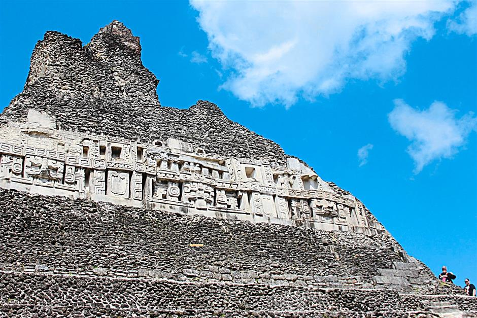 The main structure, El Castillo, is notable for its elegant friezes on three sides. Unlike many other Mayan ruins, visitors can climb up a series of stairs either part way or all the way to the top of El Castillo.