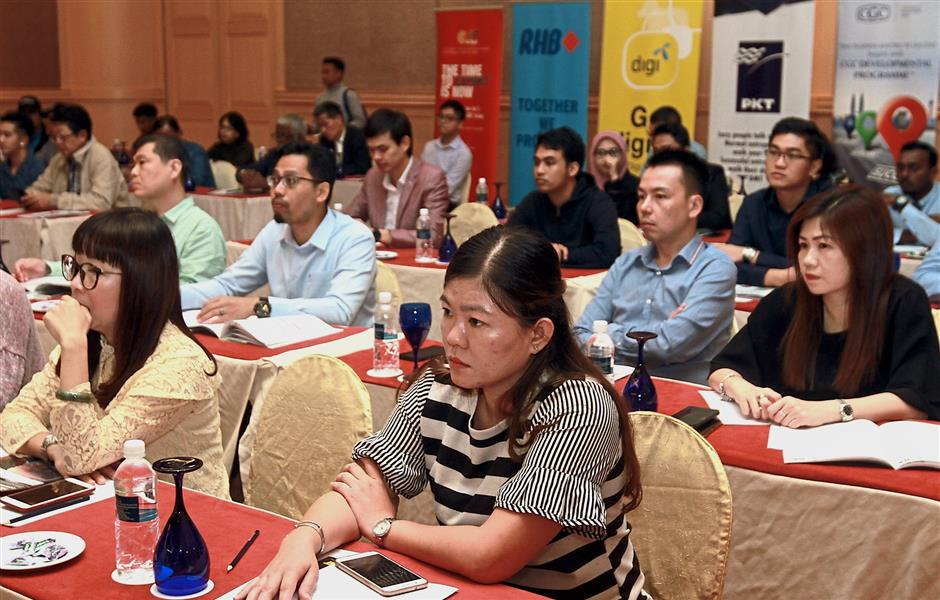 Participants listening attentively to speakers at SOBA Lab workshop. — Photos: A. MALEX YAHYA