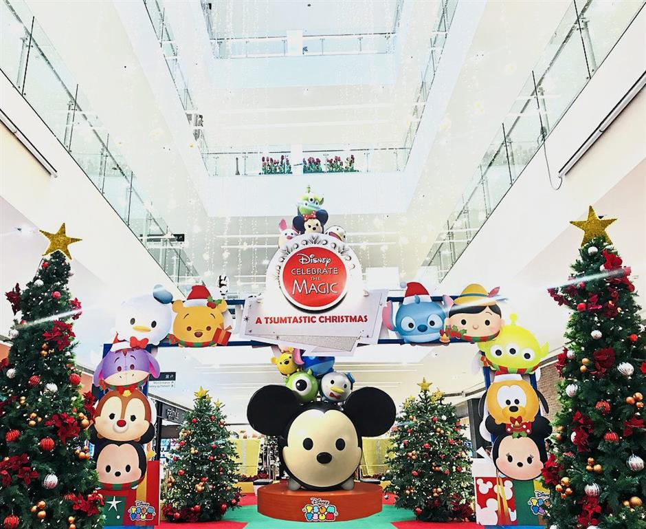 Da Men Mall in Subang Jaya, Selangor, goes full Disney Tsum Tsum this Christmas.