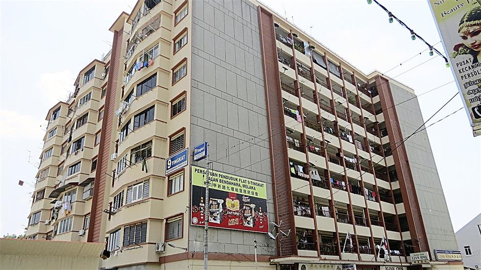 During the 60's this block of nine-storey municipal flats was the tallest building in town.