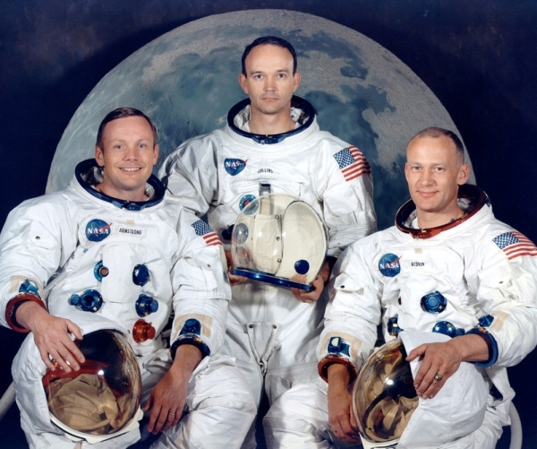 FILE PHOTO: Apollo 11 crew's portrait session shows astronauts Neil A. Armstrong, Michael Collins and Edwin Aldrin in this July 1969 handout photo courtesy of NASA. NASA/Handout via REUTERS/File Photo ATTENTION EDITORS - THIS IMAGE HAS BEEN SUPPLIED BY A THIRD PARTY      PLEASE SEARCH '50TH ANNIVERSARY OF THE MOON LANDING' FOR ALL PICTURES