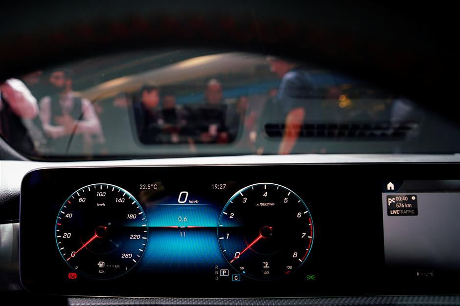 View of the dashboard of the new Daimler\'s Mercedes A-Class is presented in Amsterdam, Netherlands February 2, 2018. REUTERS/Cris Toala Olivares   NO RESALES. NO ARCHIVES.