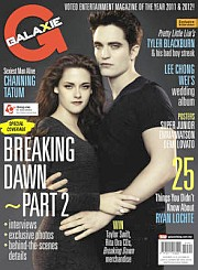 Twice the excitement : In keeping with its special tradition, Galaxie features a double keepsake cover for The Twilight Saga: Breaking Dawn - Part 2. The regular cover features Kristen Stewart and Robert Pattinson, while the second virtual cover of Taylor Lautner, is available via isnap.
